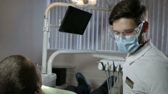 Dental examination after treatment Stock Footage