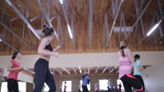Outdoor fitness conference for coaches. Dnepropetrovsk 2016 Stock Footage