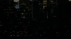 Traffic and skyscrapers lights at Midtown Manhattan in NYC Stock Footage