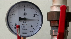 The gauge at the factory. Stock Footage