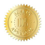 Seal Of Approval Badge Gold Stock Illustration