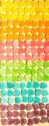 Candy and jelly colorful sweets heart-shaped background - stock photo
