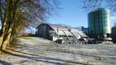 The Robert Gordon University (RGU) in Aberdeen during winter time Stock Footage