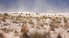 Sand Storm Blows at White Sands National Monument in New Mexico Stock Footage