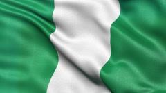 4K Nigeria flag seamless loop - stock footage