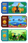 Zoo Ticket Design - stock illustration