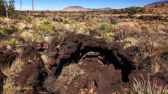 Bat Cave at Valley of Fires Recreation Area in New Mexico Stock Footage
