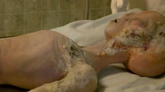 Body of Alien Crash Victim at the International UFO Museum and Research Cente Stock Footage