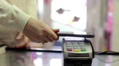 Using Credit Card Terminal with PIN in Store Stock Footage