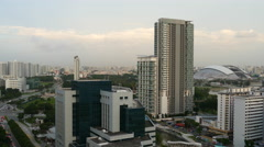 Time lapse from a cityscape from day to evening in Singapore Stock Footage
