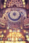 Blue Mosque Sultan Ahmet Cami - stock photo