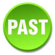 past green round flat isolated push button - stock illustration