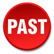 Past red round flat isolated push button Stock Illustration