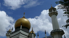 Masjid Sultan Jawi, Suktan Mosque with sound in Singapore Stock Footage
