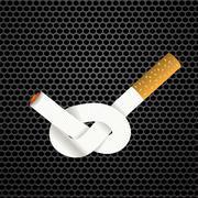 Single Cigarette Knotted Stock Illustration