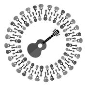 Acoustic Guitar Silhouette Piirros