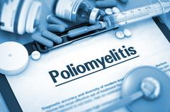 Poliomyelitis. Medical Concept Stock Illustration