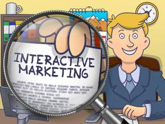 Interactive Marketing through Lens. Doodle Style Stock Illustration