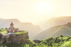 Ancient monastery. Tatev. Armenia - stock photo
