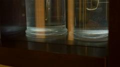 Formalin Leech Preserved in Jars Stock Footage