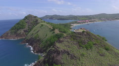 Stunning 4K drone footage of mountain hilltops - St Lucia Stock Footage
