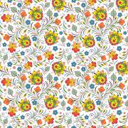 Russian floral ornament Stock Illustration