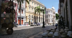 Old Recife in the state of Pernambuco, Brazil Stock Footage