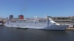 Ocean dream, Peace boat moored in Rio de Janeiro, Brazil Stock Footage