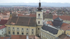 Hermanstadt Catholic Church Stock Footage