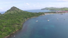 4K drone view of St Lucia bays Stock Footage