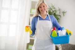 Woman from cleaning service Stock Photos