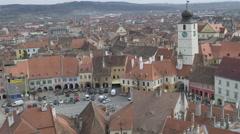 Hermanstadt Old Town View Stock Footage
