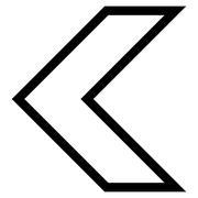 Arrowhead Left Outline Vector Icon - stock illustration