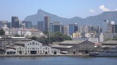 Rio de Janeiro skyline historic center, Brazil Stock Footage