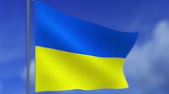 The flag of Ukraine Stock Footage