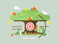 Stock Illustration of Right targets tree with animal