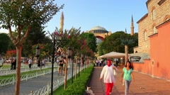 Hagia Sophia Basilica Fourth largest building in world that was made as a church Stock Footage
