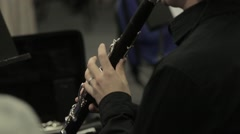 Clarinet Player Musical Performance Stock Footage