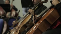 Professional Male Cellist Playing His Cello Stock Footage