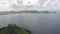 View of coastline - Saint Lucia Stock Footage