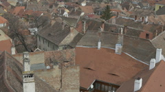 Old Tile Roofs Stock Footage
