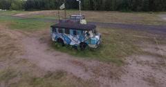Painted Camper Van Stock Footage