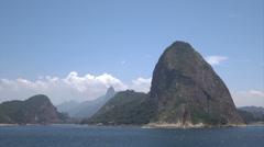 Rio de Janeiro skyline, Corcovado and Sugarloaf mountain, Brazil Stock Footage