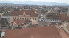 Sibiu Town Old Buildings Stock Footage