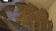 Stairs Inside Medieval Tower Stock Footage