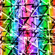 Multicolor Geometric Grunge Background - stock illustration
