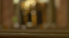 Confessional in a Catholic Church Stock Footage