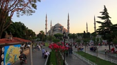 Blue Mosque in Holy Month of Ramadan in Turkey - stock footage