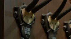 Deer Antlers on Wall Stock Footage