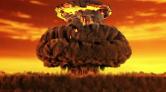 Animation of a nuclear blast version 2 Stock Footage